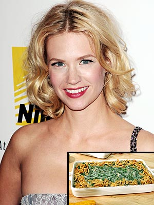 JANUARY JONES: GREEN BEAN CASSEROLE photo | January Jones