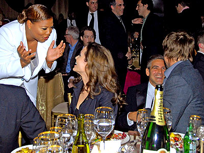 HOLDING COURT photo | Angelina Jolie, Brad Pitt, George Clooney, Queen Latifah
