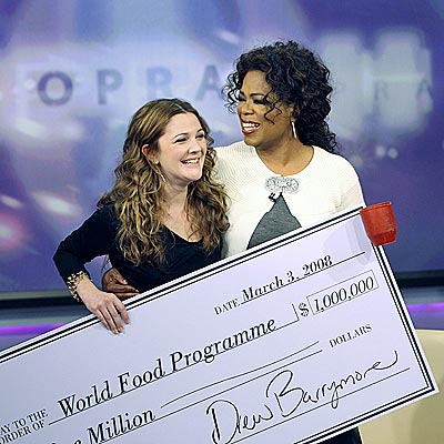 DREW BARRYMORE & OPRAH WINFREY photo | Drew Barrymore