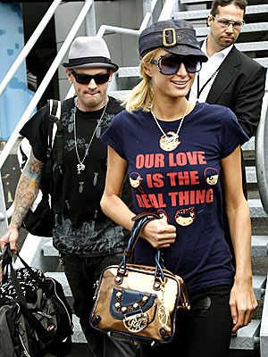 SHIRT TALES photo | Benji Madden, Paris Hilton