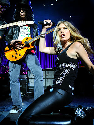 ROCKING OUT photo | Fergie, Slash