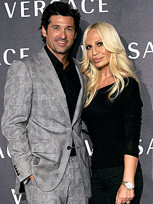 DESIGNING WOMAN  photo | Donatella Versace, Patrick Dempsey