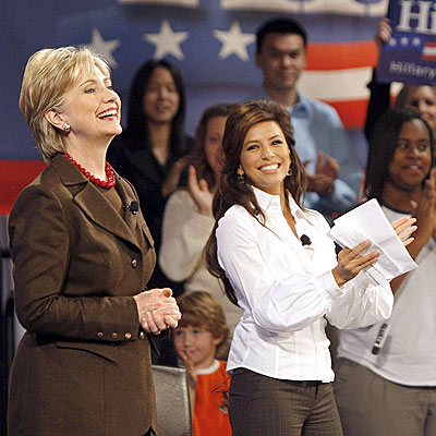 TEXAS-SIZED WELCOME photo | Eva Longoria, Hillary Rodham Clinton