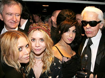 VARIETY ACT photo | Amy Winehouse, Ashley Olsen, Karl Lagerfeld, Mary-Kate Olsen