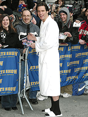 PUBLIC BATH ROBE photo | Jim Carrey