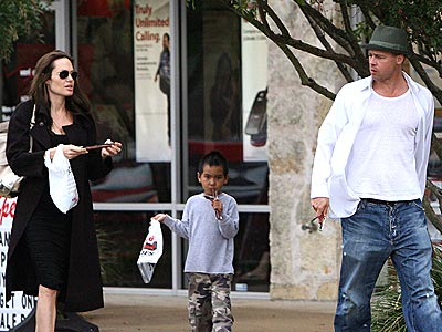 Brad Pitt and Angelina Jolie Take Maddox Out For Beef