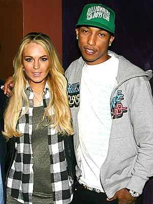 HONORARY N.E.R.D. photo | Lindsay Lohan, Pharrell Williams
