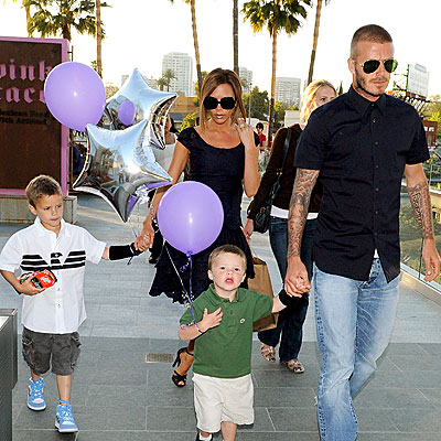 David Beckham & Family Wallpaper