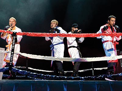 RINGSIDE ACTION photo | Backstreet Boys, AJ McLean, Brian Littrell, Howie Dorough, Nick Carter