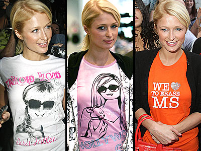 TEE FOR THREE photo | Paris Hilton