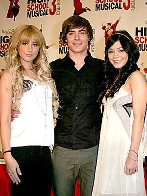 Vanessa Hudgens  Zac Efron  Zac Efron And Ashley Tisdale And Vanessa Hudgens