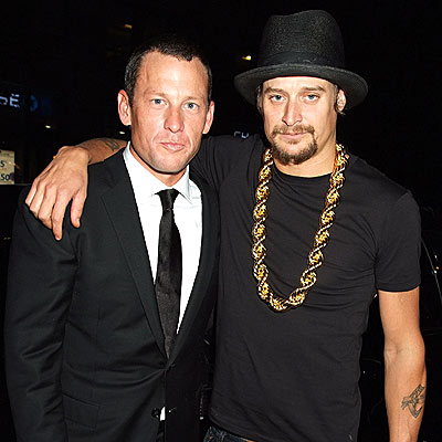 THE ODD COUPLE photo | Kid Rock, Lance Armstrong
