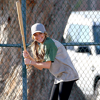 UP AT BAT photo | Lindsay Lohan