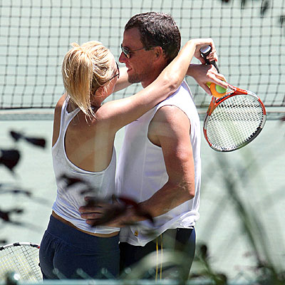 GAME, SET, HUG!  photo | Kate Hudson, Lance Armstrong
