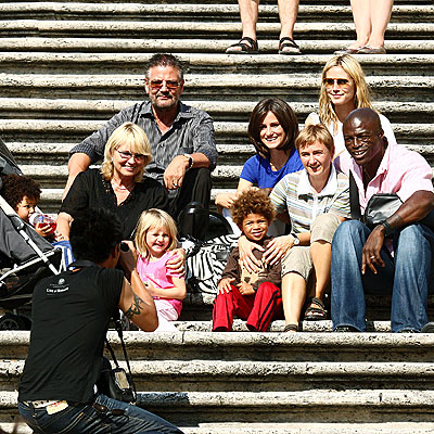 heidi klum and seal family. ONE BIG HAPPY FAMILY photo