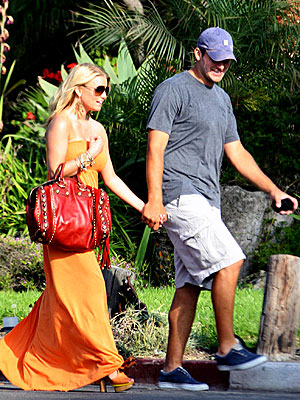 TRAINING DAY  photo | Jessica Simpson, Tony Romo