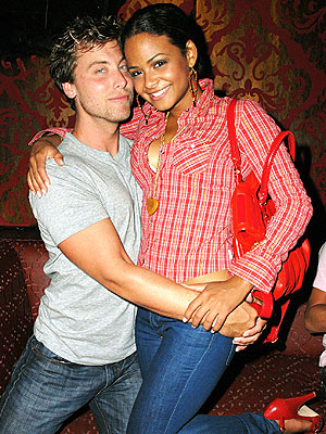 CUDDLE BUDDIES  photo | Christina Milian, Lance Bass