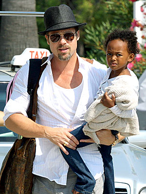 AT ARM'S LENGTH photo | Brad Pitt, Zahara Jolie-Pitt