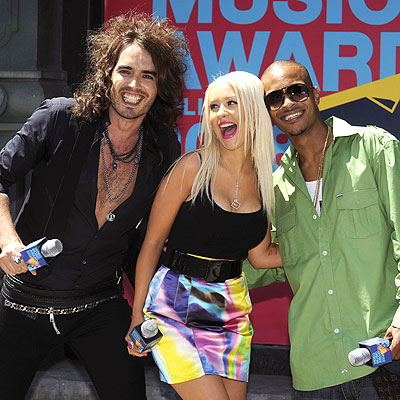 HOST WITH THE MOST photo | Christina Aguilera, Russell Brand, T.I.