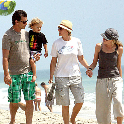 BEACH BUDDIES photo | Ellen DeGeneres, Gavin Rossdale, Kingston Rossdale, Portia de Rossi