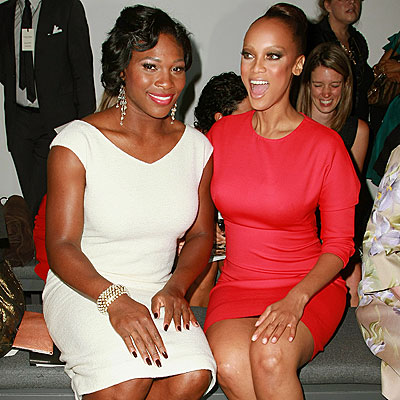 FRONT-ROW FABULOUS photo   Serena Williams, Tyra Banks