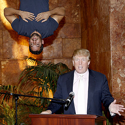 BAT MAN photo | David Blaine, Donald Trump