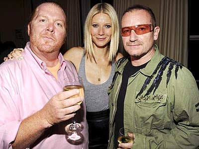 SALUD! photo | Bono, Gwyneth Paltrow, Mario Batali