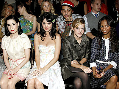 CLASS ACT photo | Dita Von Teese, Emma Watson, Katy Perry, Zoe Saldana