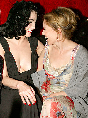 FACE TO FACE photo | Dita Von Teese, Kylie Minogue