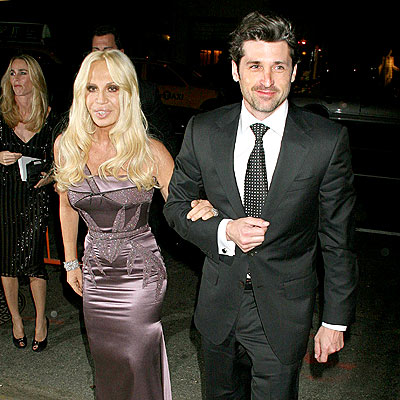 MCDREAM DATE photo | Donatella Versace, Patrick Dempsey