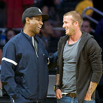 HOLDING COURT photo | David Beckham, Denzel Washington