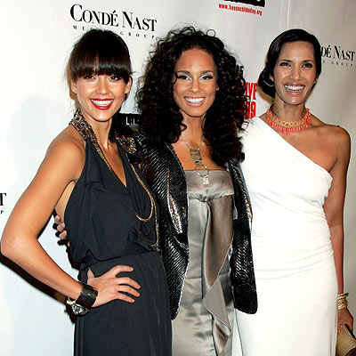 CENTER OF ATTENTION photo | Alicia Keys, Jessica Alba, Padma Lakshmi