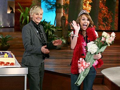 16 CANDLES photo | Ellen DeGeneres, Miley Cyrus