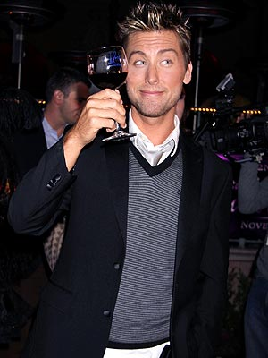 LET'S MAKE A TOAST  photo | Lance Bass