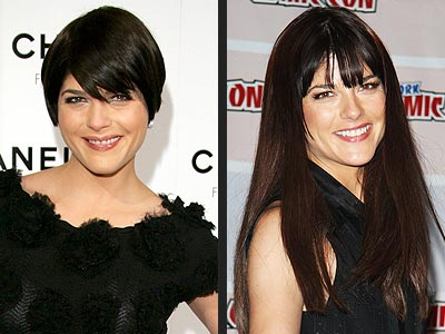 Q: Photo of an uneven haircut ala Selma Blair
