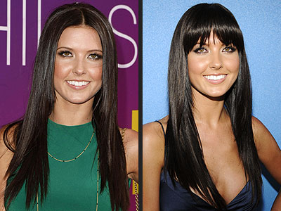 Celebrity Hair Aundrina Patridge look great with a hairstyle with bangs