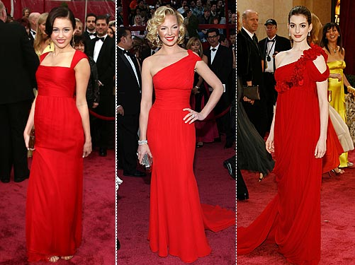 miley cyrus dresses. Red Dresses Ruled at the
