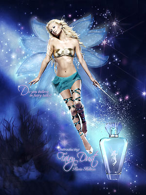 First Look Paris Hilton S Fairy Dust Ad Campaign Style