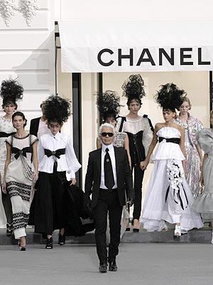 karl lagerfeld. Karl Lagerfeld Gets Animated