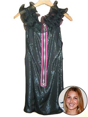 a little more high-fashion than friend Lauren Conrad's casual dresses,