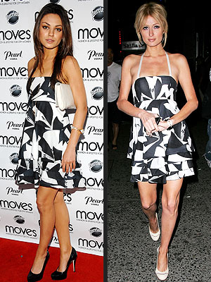 MILA VS. PARIS photo | Mila Kunis, Paris Hilton
