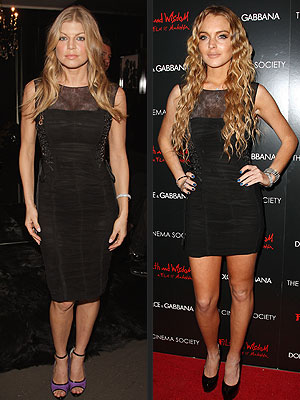 FERGIE VS. LINDSAY photo | Fergie, Lindsay Lohan