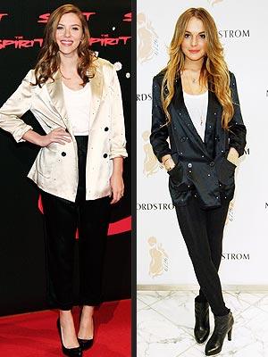 SCARLETT VS. LINDSAY photo | Lindsay Lohan, Scarlett Johansson