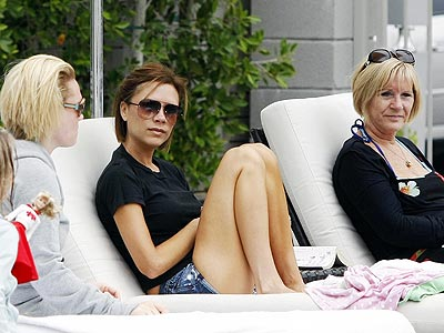 VICTORIA BECKHAM The star kicks back in uncharacteristically