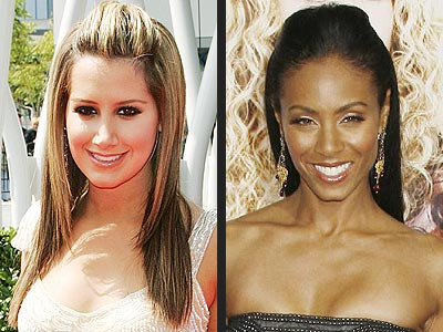 CENTER SWEEP-BACK photo | Ashley Tisdale, Jada Pinkett Smith