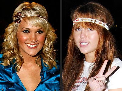 HEADBAND OVER BANGS photo | Carrie Underwood, Miley Cyrus