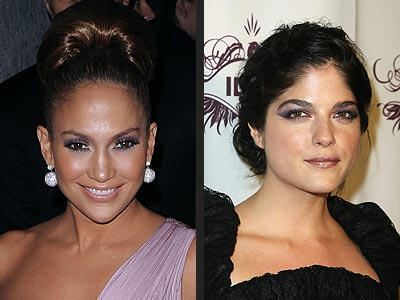 PURPLE EYESHADOW photo | Jennifer Lopez, Selma Blair