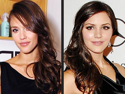 SIDE-SWEPT WAVES photo | Jessica Alba, Katharine McPhee