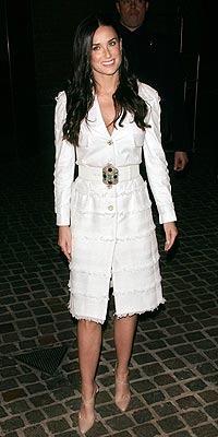 DEMI MOORE'S WHITE COAT photo | Demi Moore