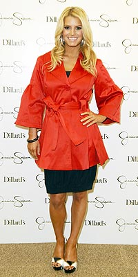 JESSICA SIMPSON'S RED SATIN photo | Jessica Simpson